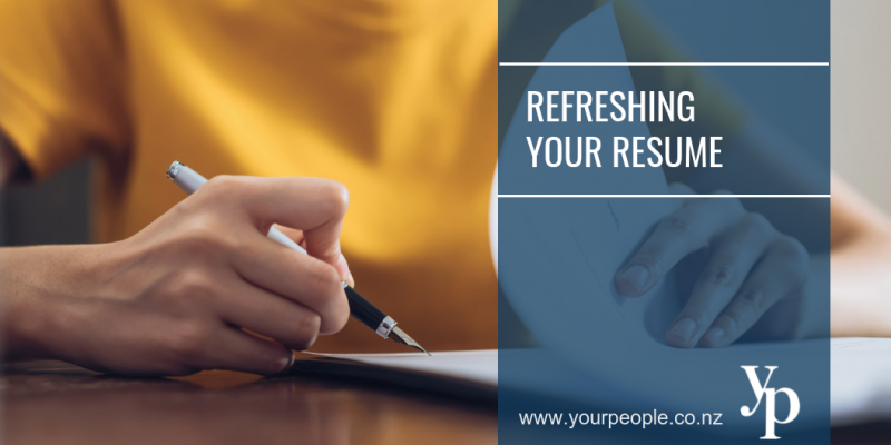 Refreshing Your Resume